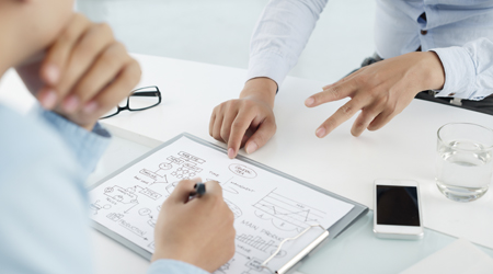 Discussing business idea