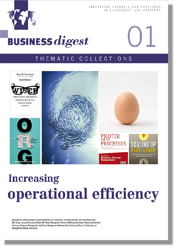 Thematic Collections #01 - Increasing operational efficiency