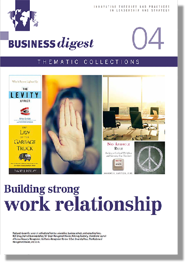 Thematic Collections #04 - Fostering healthy work relationships